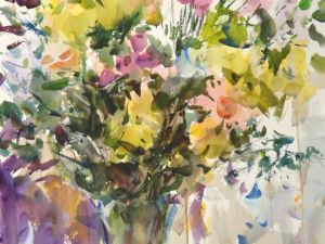 4371 Wisconsin Bouquet, original watercolor painting by Eric Wiegardt AWS-DF, NWS