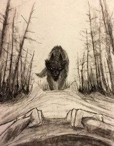wolf at bed's end by Natasha Alterici