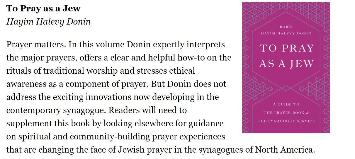 To Pray As A Jew