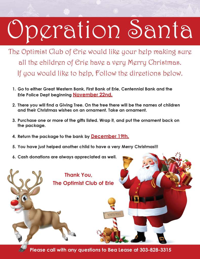Operation Santa Erie Optimists