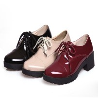 2015-classic-ladies-work-office-shoes-black-patent-leather-low-heel-lace-up-round-toe-oxfords