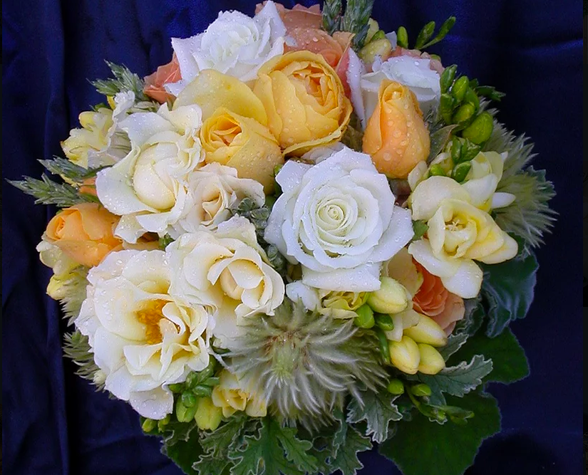 Erika Anderson Designs wedding bouquet with roses