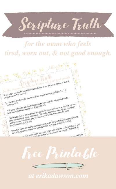 scripture truth for the mom who feels guilty free printable