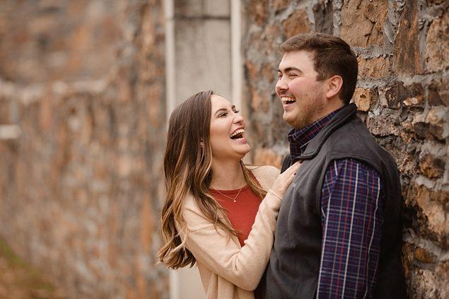 Arkansas Fall Engagements at Sassafras Springs Vineyard