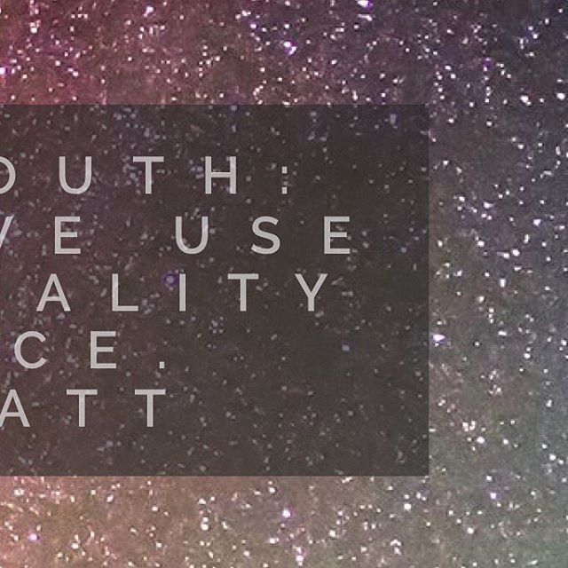Watch your mouth The language we use creates the realityhellip