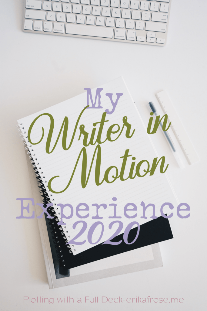 My writer in motion experience will be lots of time at the keyboard and in my notes.