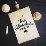 Wood Cutout | The Adventure Awaits