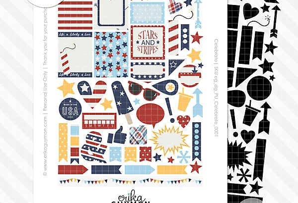 Free 4th of July Planner Stickers | Celebrate | Erika Guymon