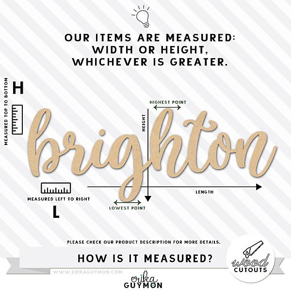 Erika Guymon | Wood Cutout Sizing & Measurements