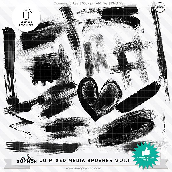 CU Mixed Media Brushes Vol.1