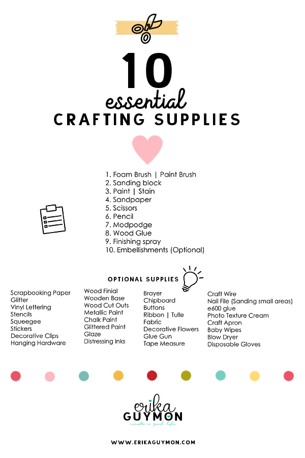Craft Supply List | Erika Guymon