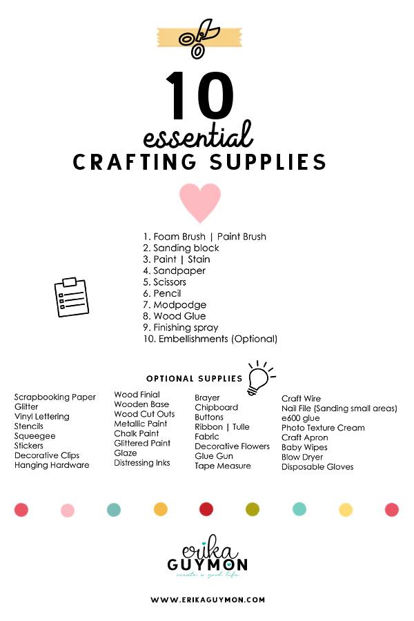 Craft Supply List | Erika Guymon