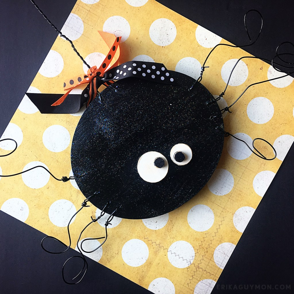 Halloween Wood Spider Decor
