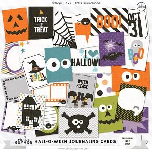 Halloween Themed Digital journaling Cards   Erika Guymon