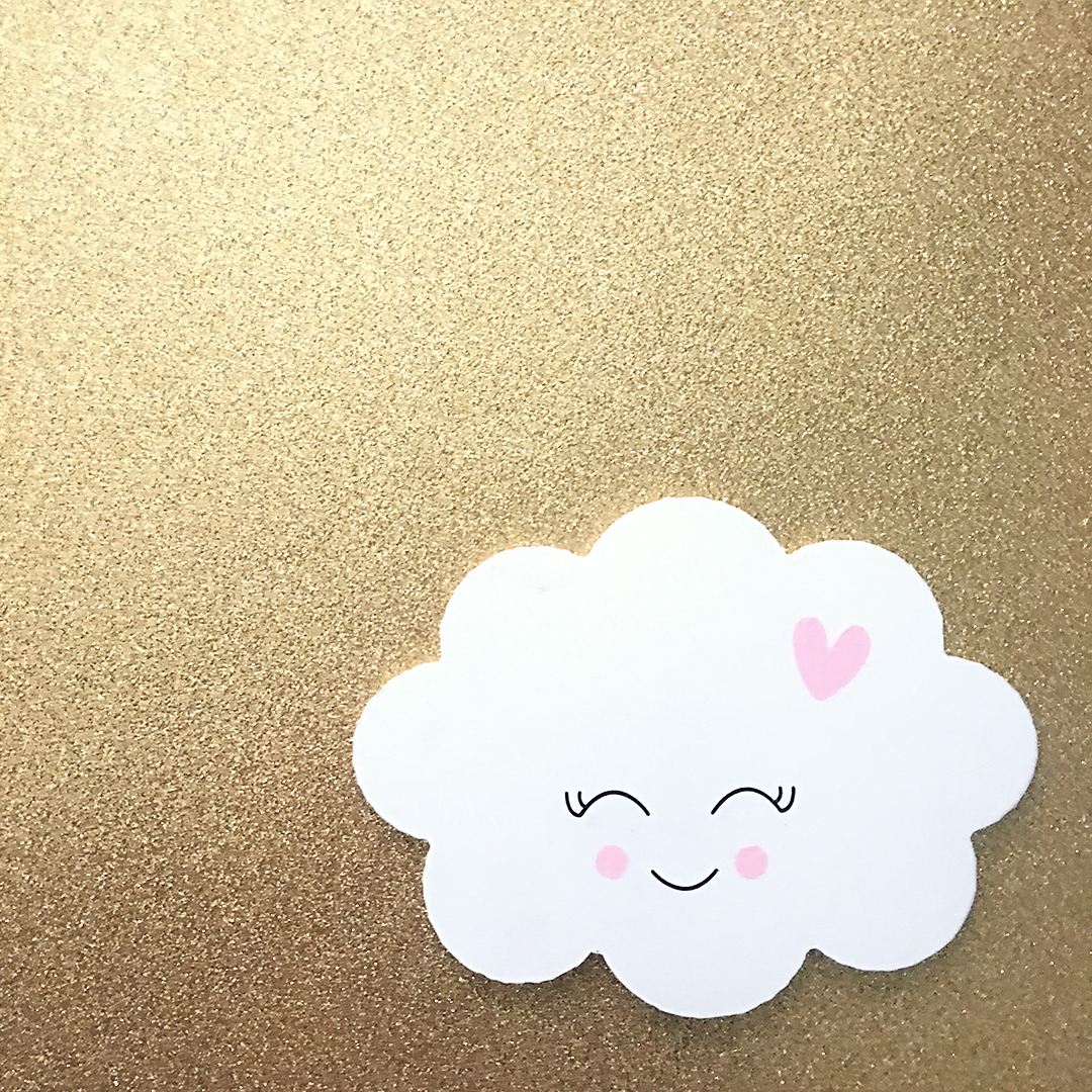 Cloud Wood Cutout | Made with love by Erika Guymon