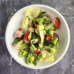 Summer Spring Salad with homemade poppyseed dressing