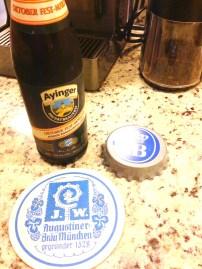 Our friend brought this gem. Can only open it with the bottle opener we got in Munich at the Hofbrauhaus.