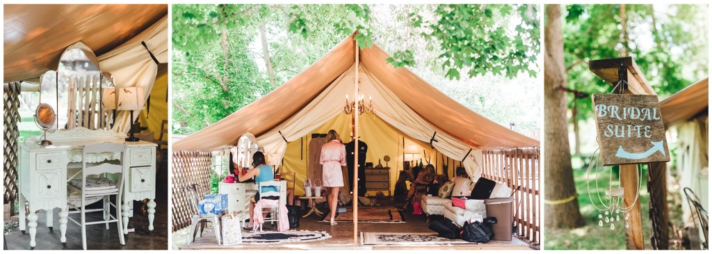 glamping tent, glamping wedding