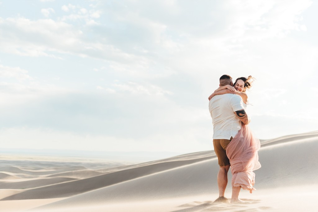 barefoot engagement photos