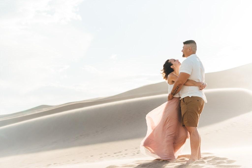 sand dunes portraits