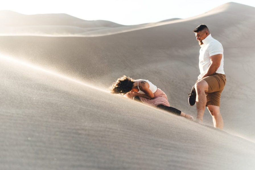 strong winds at the sand dunes