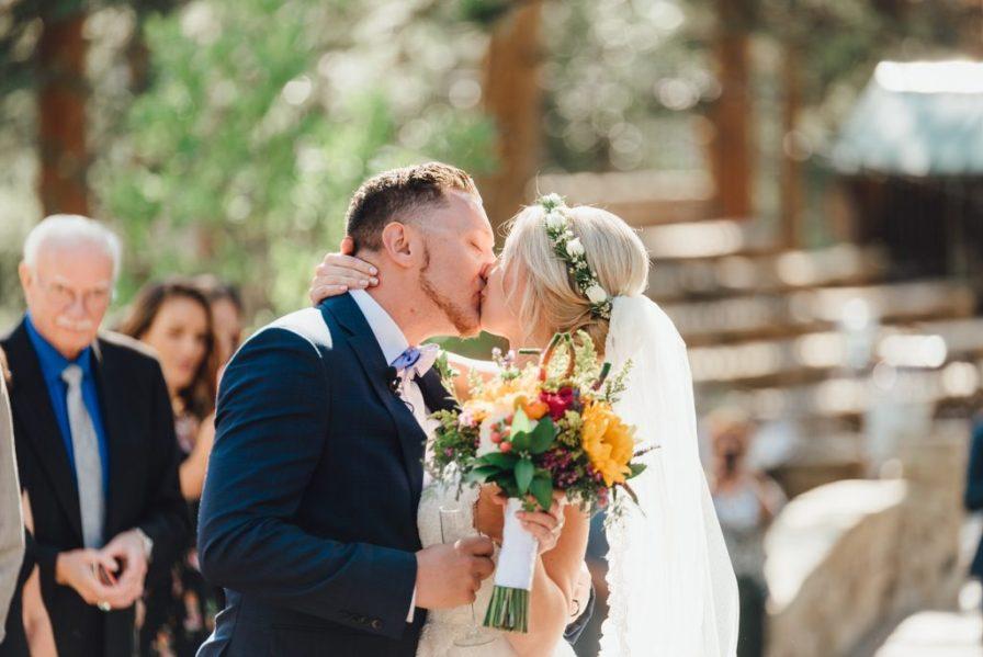 wedding flower petal toss