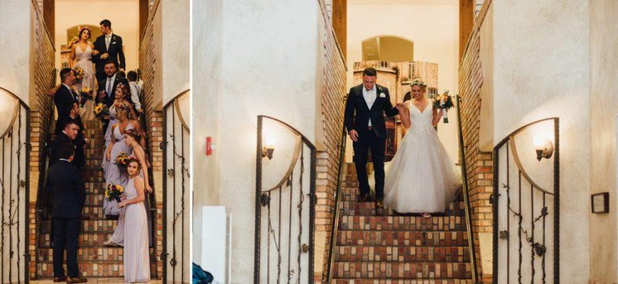 groom and bride entrance into reception