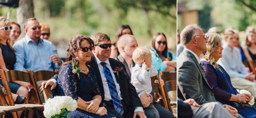 parent's reaction during wedding