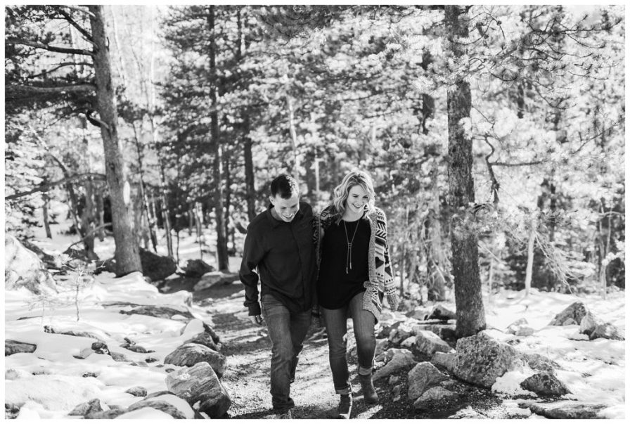 October engagement session in Rocky Mountain National Park