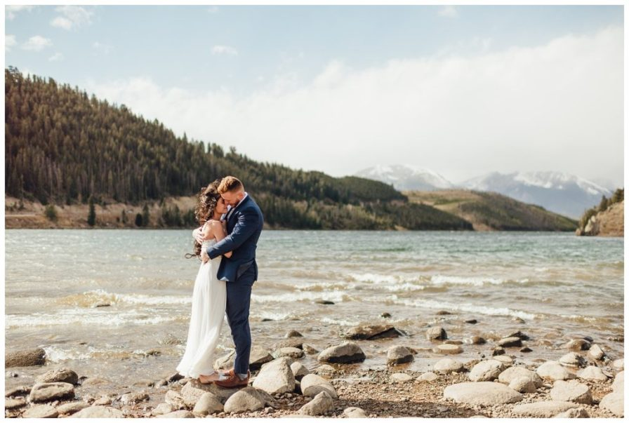 Elopement near Dillon Reservoir in Colorado