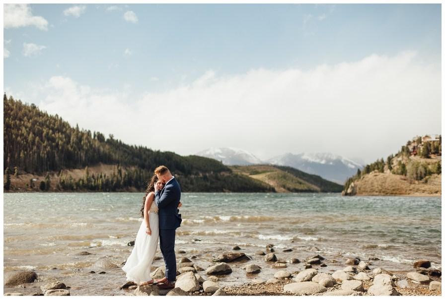 Windy elopement at Dillon Reservoir