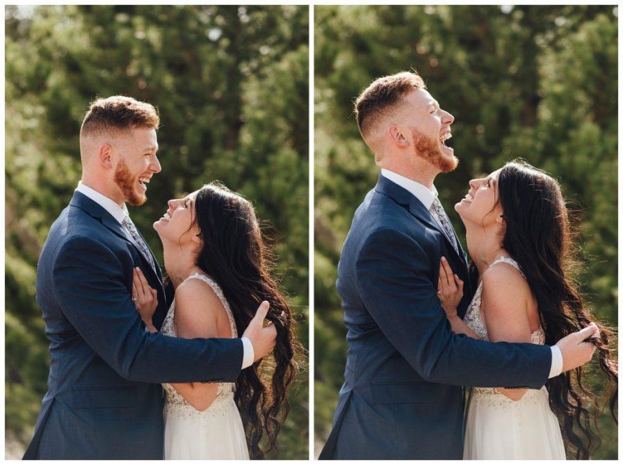 Fun bride and groom photo ideas.