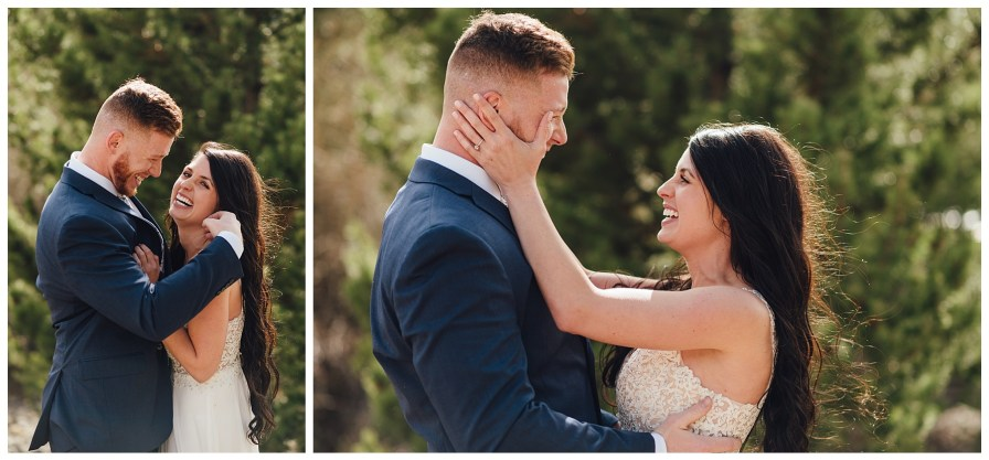 Romantic photos for bride and groom