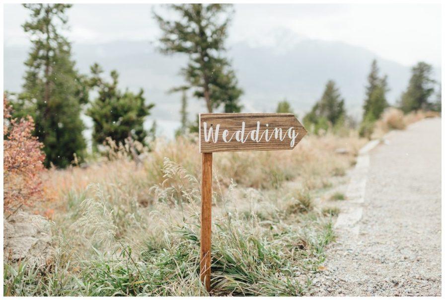 Rustic chic wedding signs