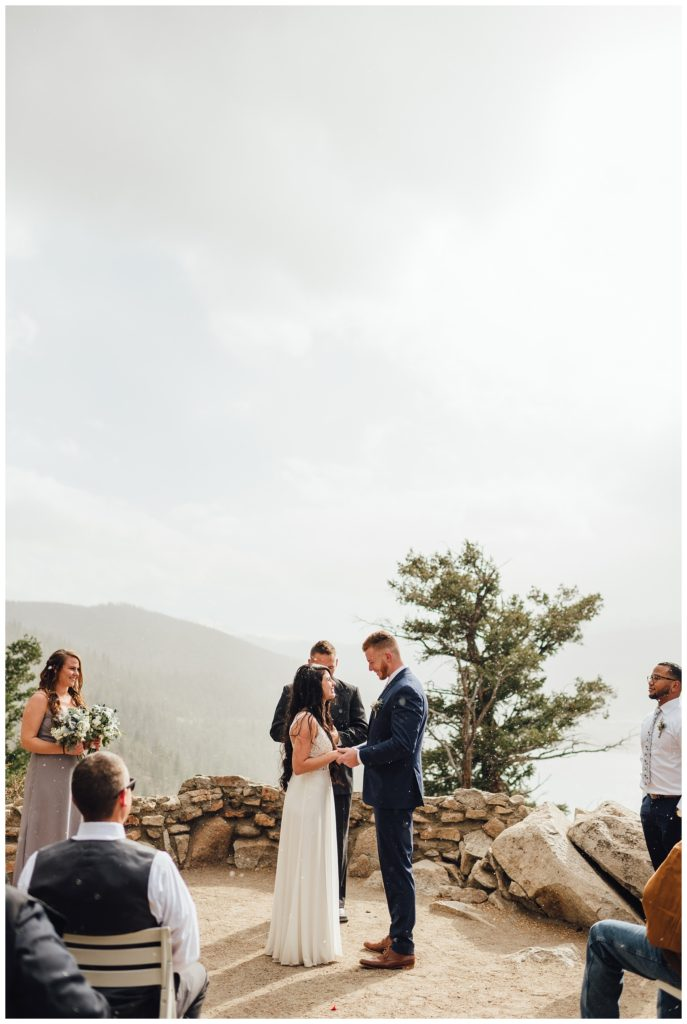 Snowy Colorado elopement in October