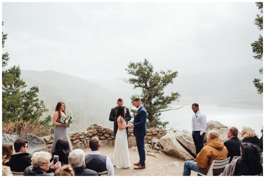 Colorado elopement in the mountains at Sapphire Point