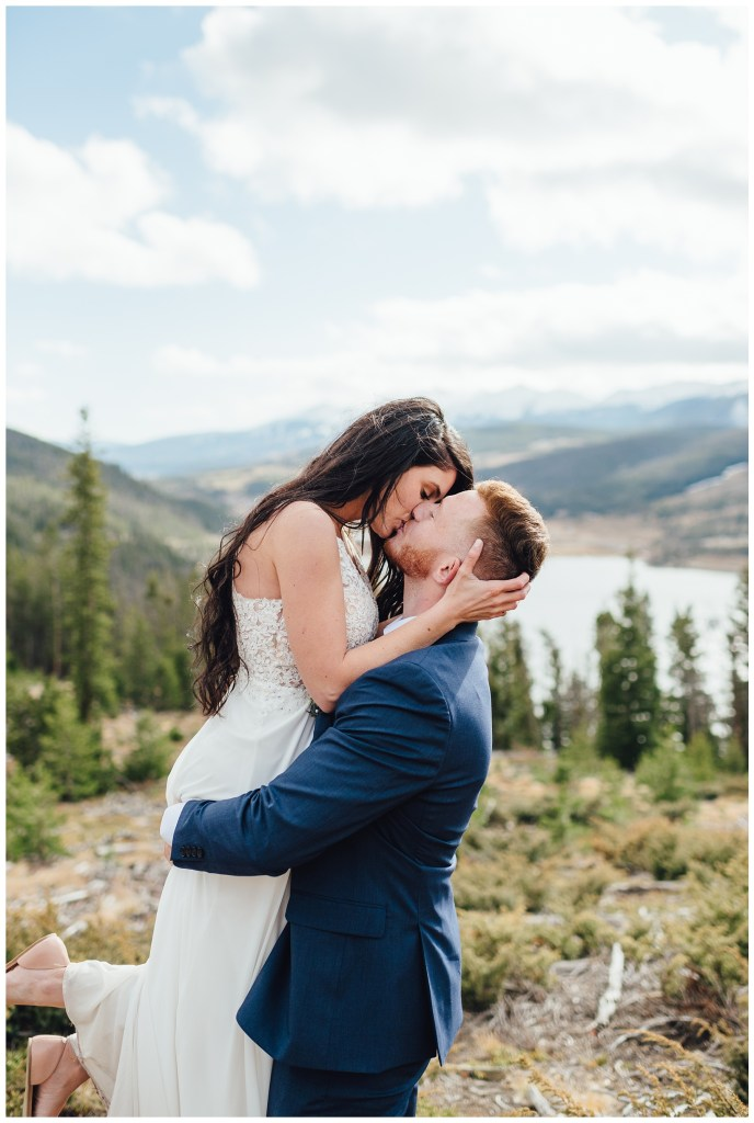 A lot of color at Sapphire Point in October for this elopement