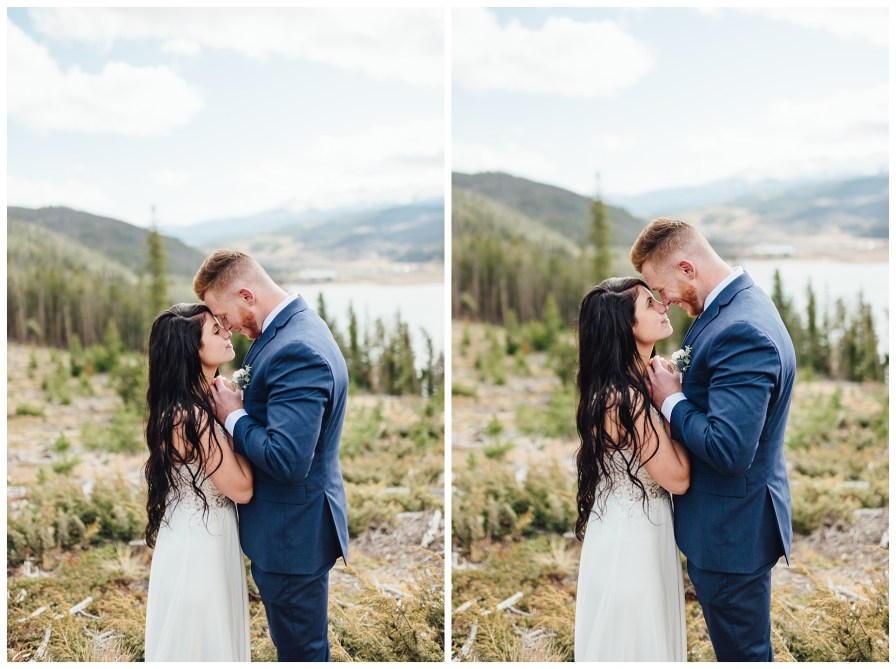 Intimate elopement at Sapphire Point in Colorado