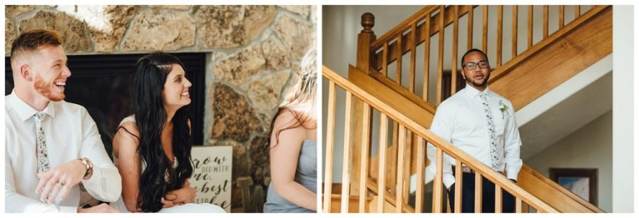 Elopement reception at private residence in Breckenridge