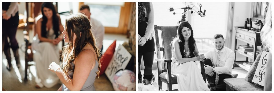 Maid of honor toasts at elopement