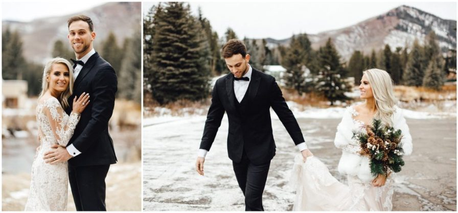 Snowy winter elopement in the amazing mountains of Vail Colorado