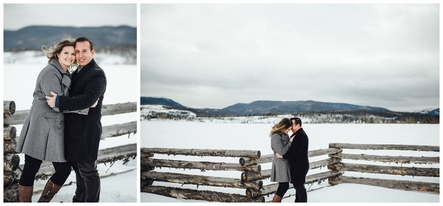 Colorado winter engagement