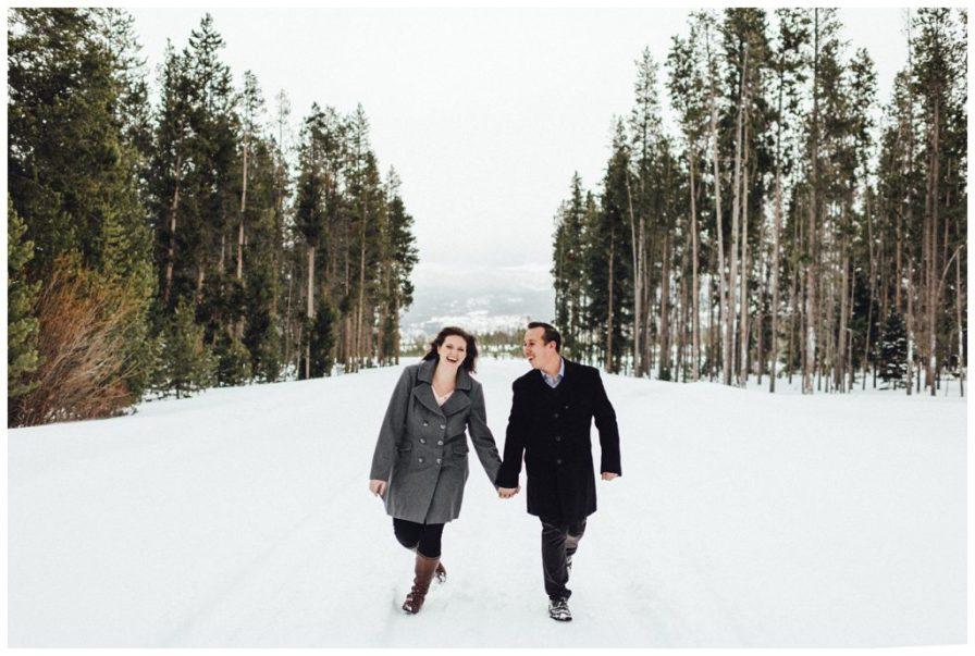 Winter Park Colorado engagement photos