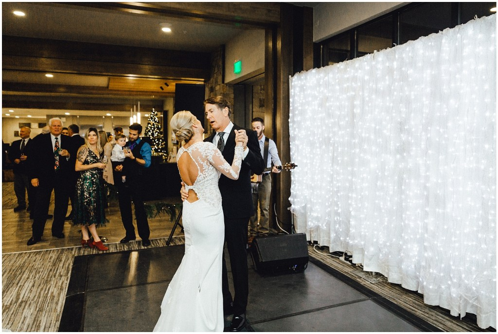 Not only does this bride get to dance with her dad, he is singing to her!