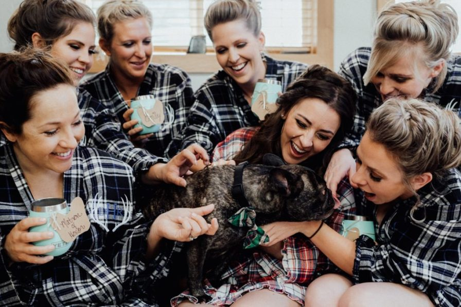 bridesmaid flannel robes