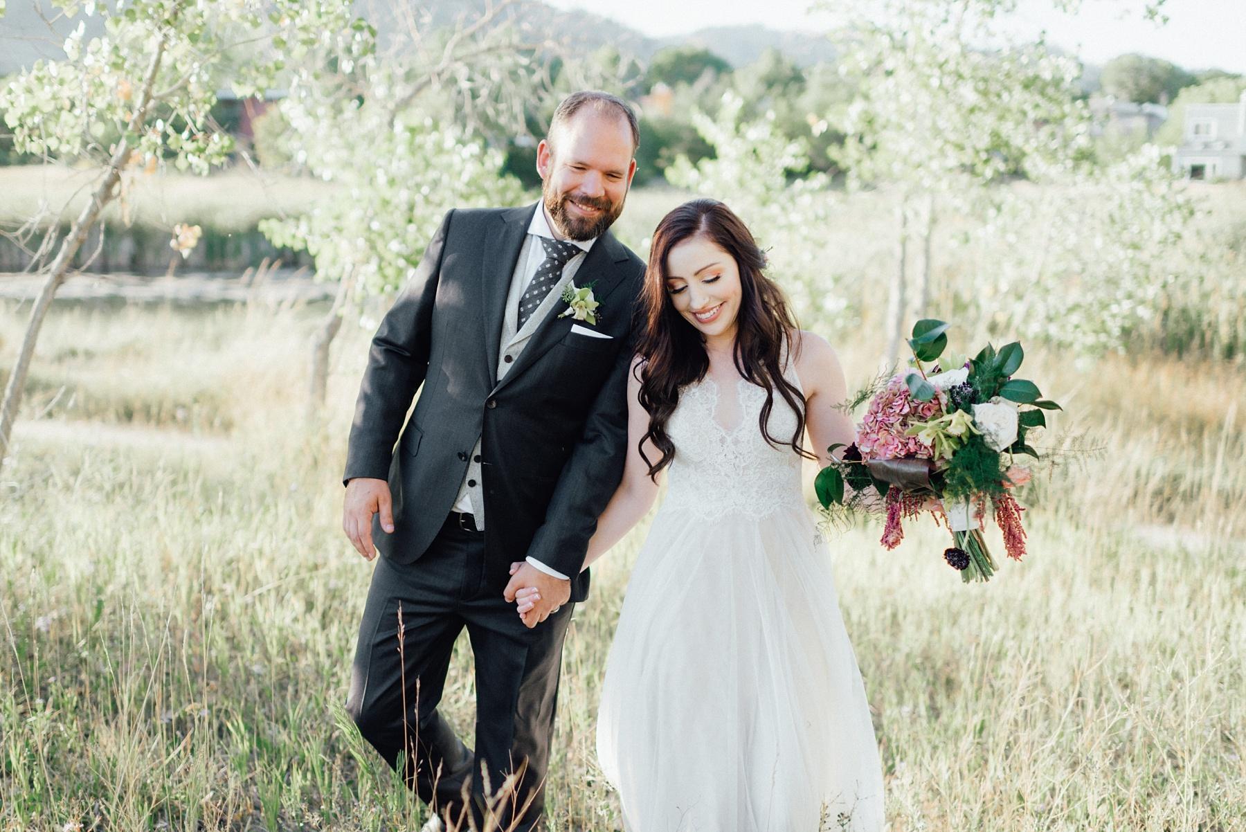 Backyard wedding in Boulder, Colorado