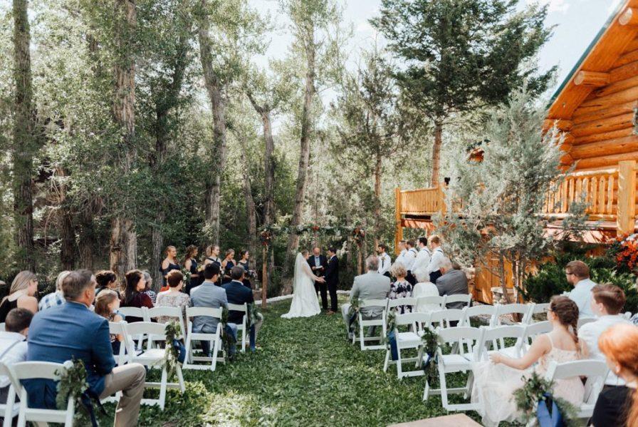 Backyard wedding in Salida, Colorado