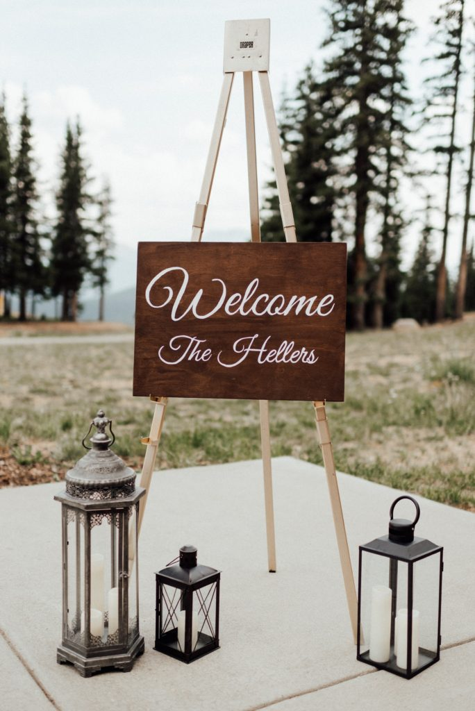 Wedding welcome sign, wedding signs