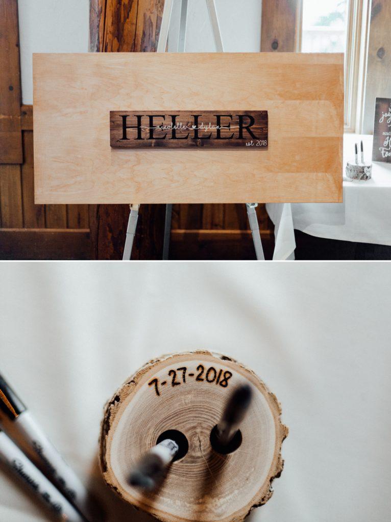 Wedding guest book, guest book ideas, wooden guest book