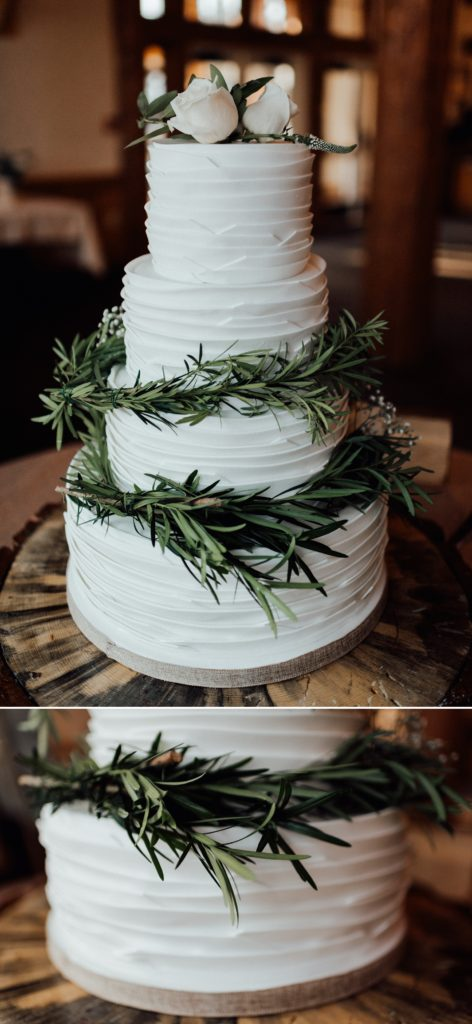 Four tier wedding cake, wedding cake with greenery rings, floral wedding cakes, rustic wedding cake